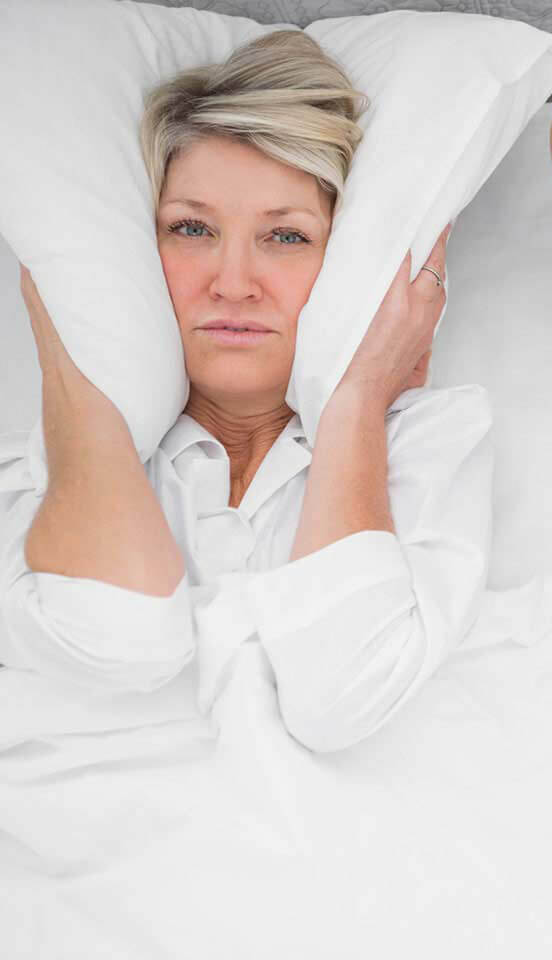 Woman Tired Of Snoring